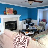 """Emmie's """"Bold Sea Blue"""" Room — Room for Color Contest"""