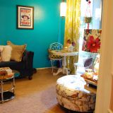"""Rita's """"Bright Turquoise"""" Room — Room for Color 2014"""