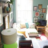"""Joey's """"Cozy Modern Vintage"""" Room — Room for Color Contest"""