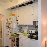 Justine's Blue Backsplash Kitchen — Small Cool Kitchens 2012