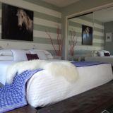 Heather's Horizontal Striped Bedroom — My Bedroom Retreat Contest