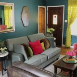 "Kelly's ""Deep Teal with a Funky Vintage Vibe"" Room — Room for Color Contest"