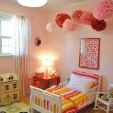 """Sue's """"Pink & Red Pom Pom"""" Room — Room for Color 2014"""