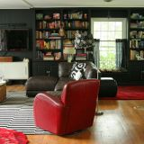 """Jennifer's """"Black, white and red"""" Room — Room for Color Contest"""