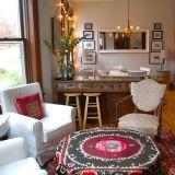"Julie's ""Modern Central Asian"" Room — Room for Color Contest"