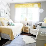 """Nadia's """"Yellow & Grey Sunshine"""" Room — Room for Color Contest"""