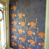 Carol's Ostriches on Parade Entryway — Energize Your Entryway