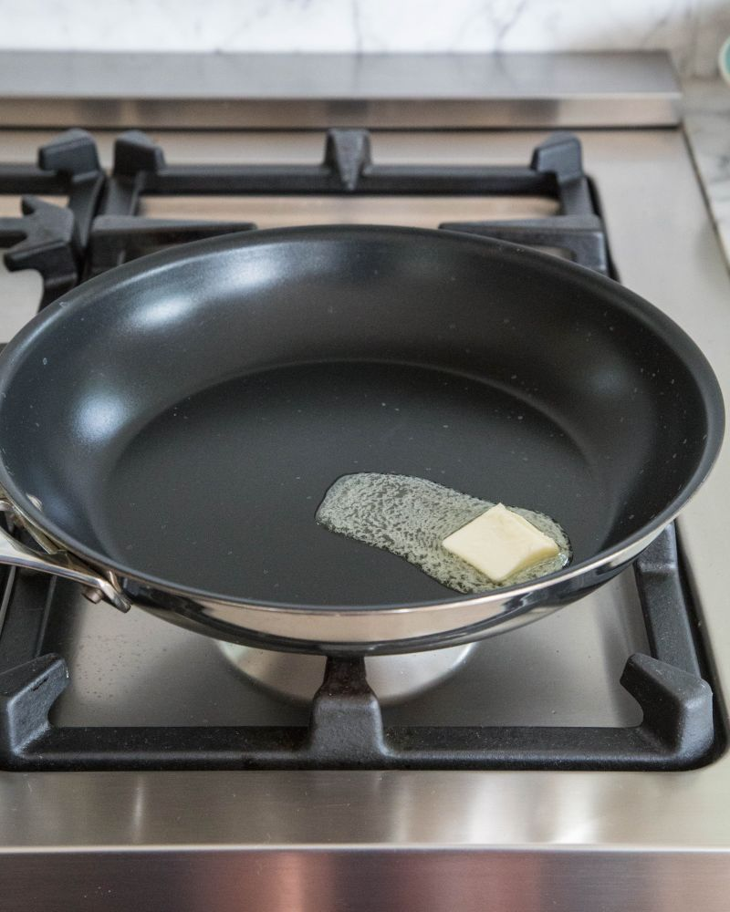 Melt butter in pan