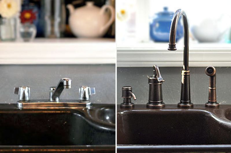 how to replace a kitchen faucet kitchn - Replacing Kitchen Faucet
