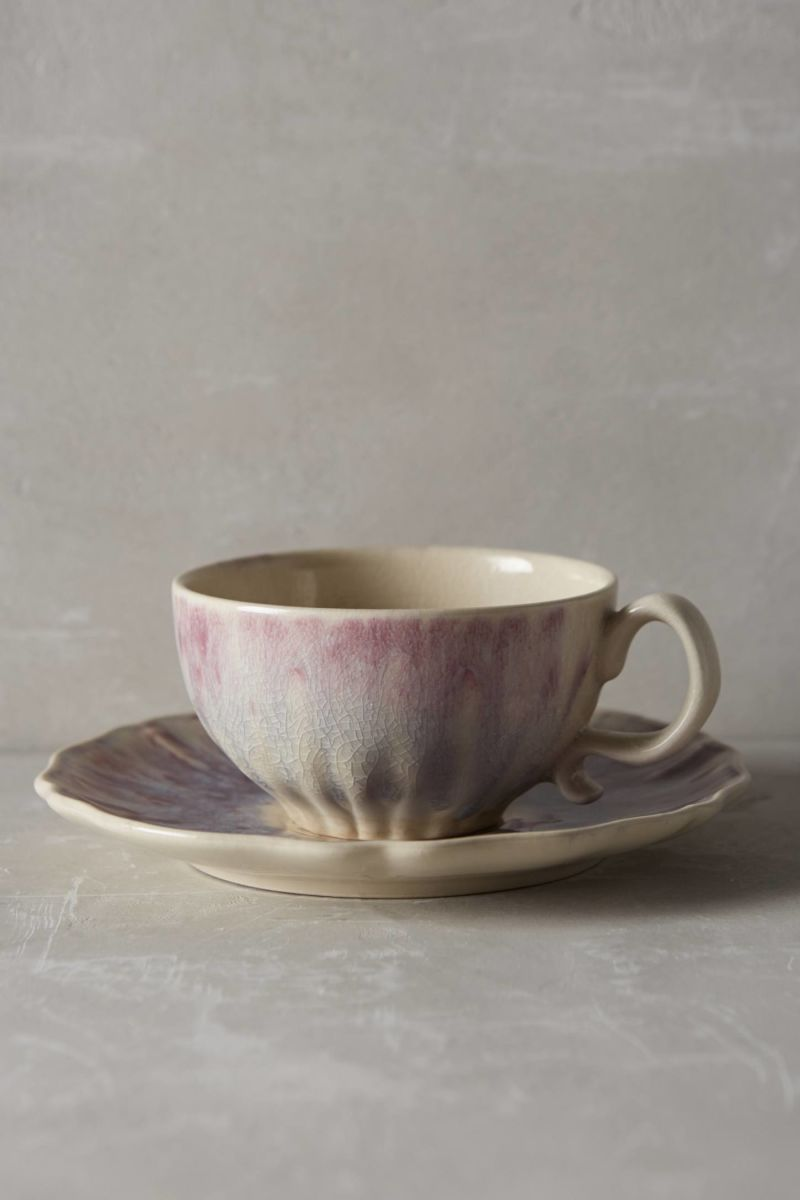 Smoke Rings Cup & Saucer | Anthropologie