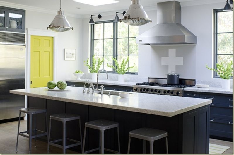 gorgeous greygray kitchen tradition with a twist at willow decor many kitchens without upper cabinets are modern in style but this one leans more - Kitchen Without Upper Cabinets