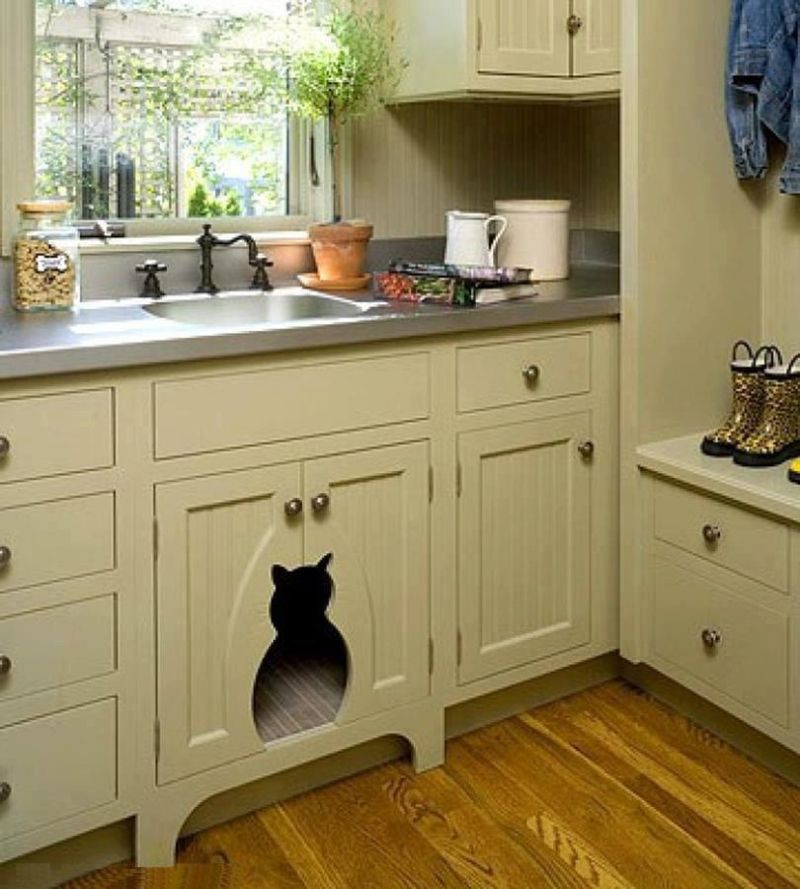 Awesome Kitchen: Kitty Cutouts And Deluxe Dog Beds: 15 Awesome Kitchen