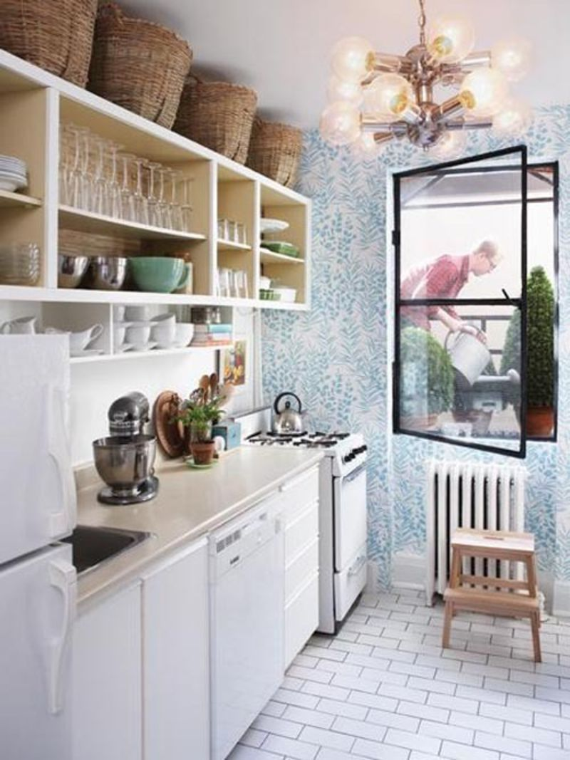 Small Kitchen Storage: Put Baskets Above the Cabinets! | Kitchn