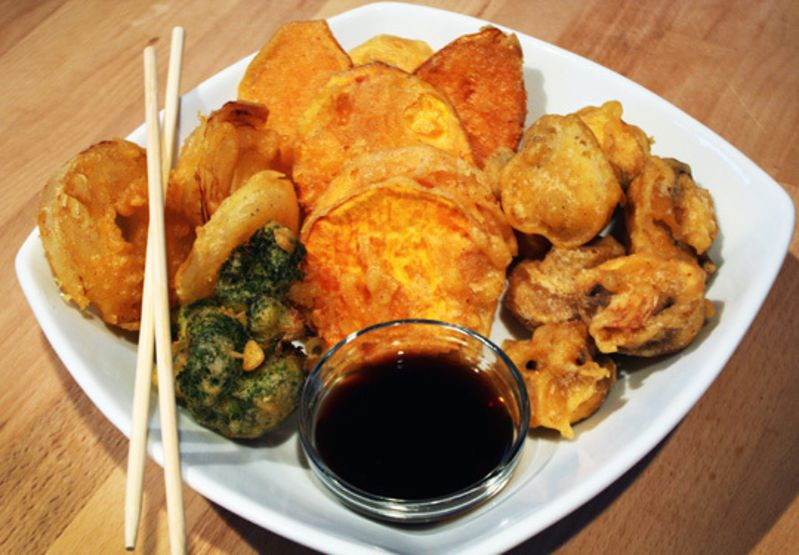 how to make vegetable tempura