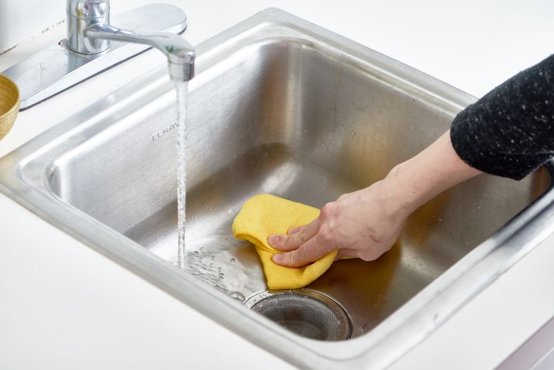 How To Polish a Stainless Steel Sink with Flour | Kitchn
