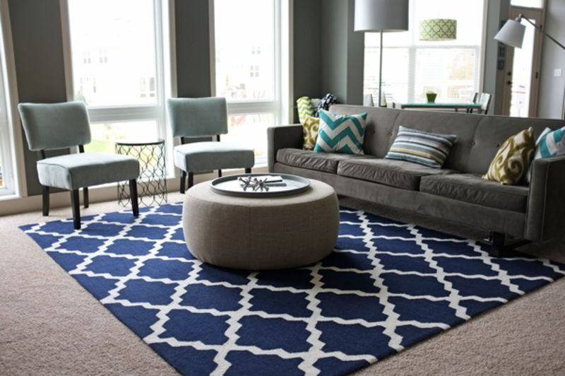 """Jackie's """"Navy Patterned"""" Room — Room for Color Contest"""