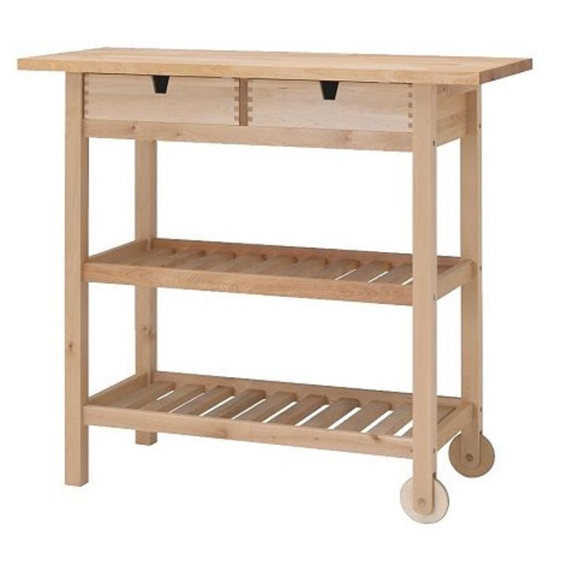 wood top kitchen carts high low kitchn - Kitchen Carts