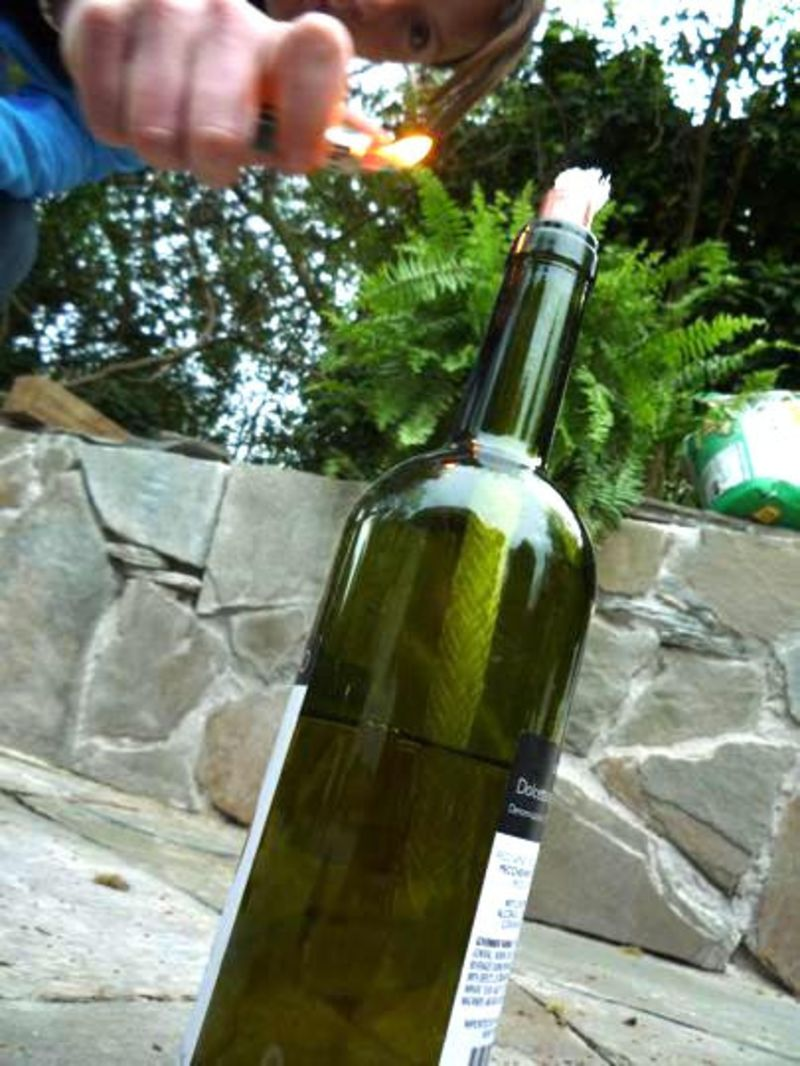 How To Make A Wine Bottle Tiki Torch For Under 400 Apartment Therapy