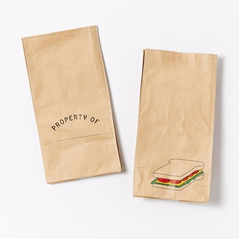 Reusable paper lunch totes