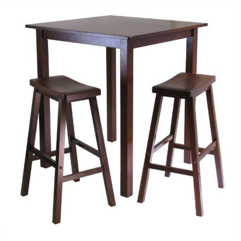 High Table With Stools: Eating In: Square Bar Tables For Small Kitchens
