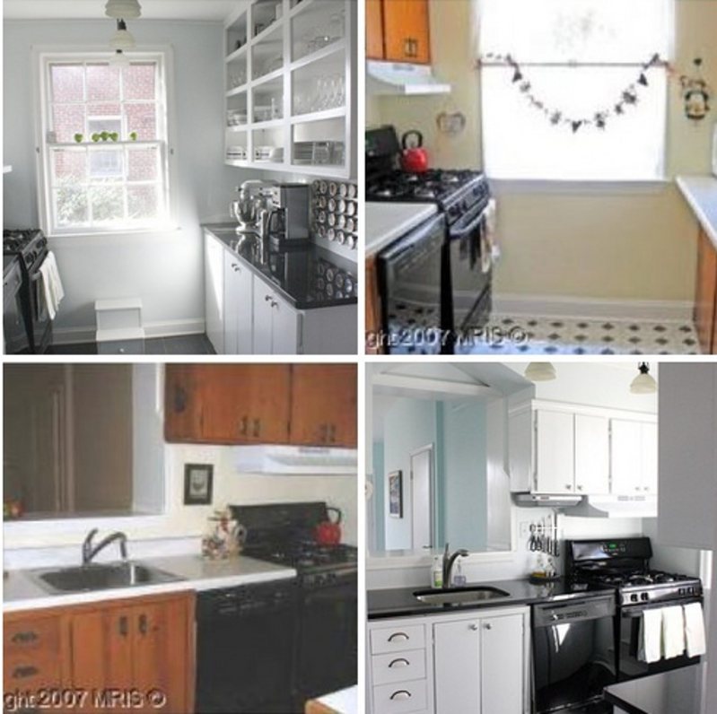Apartment Kitchen Makeover: Before & After: A Modest Galley Kitchen Makeover