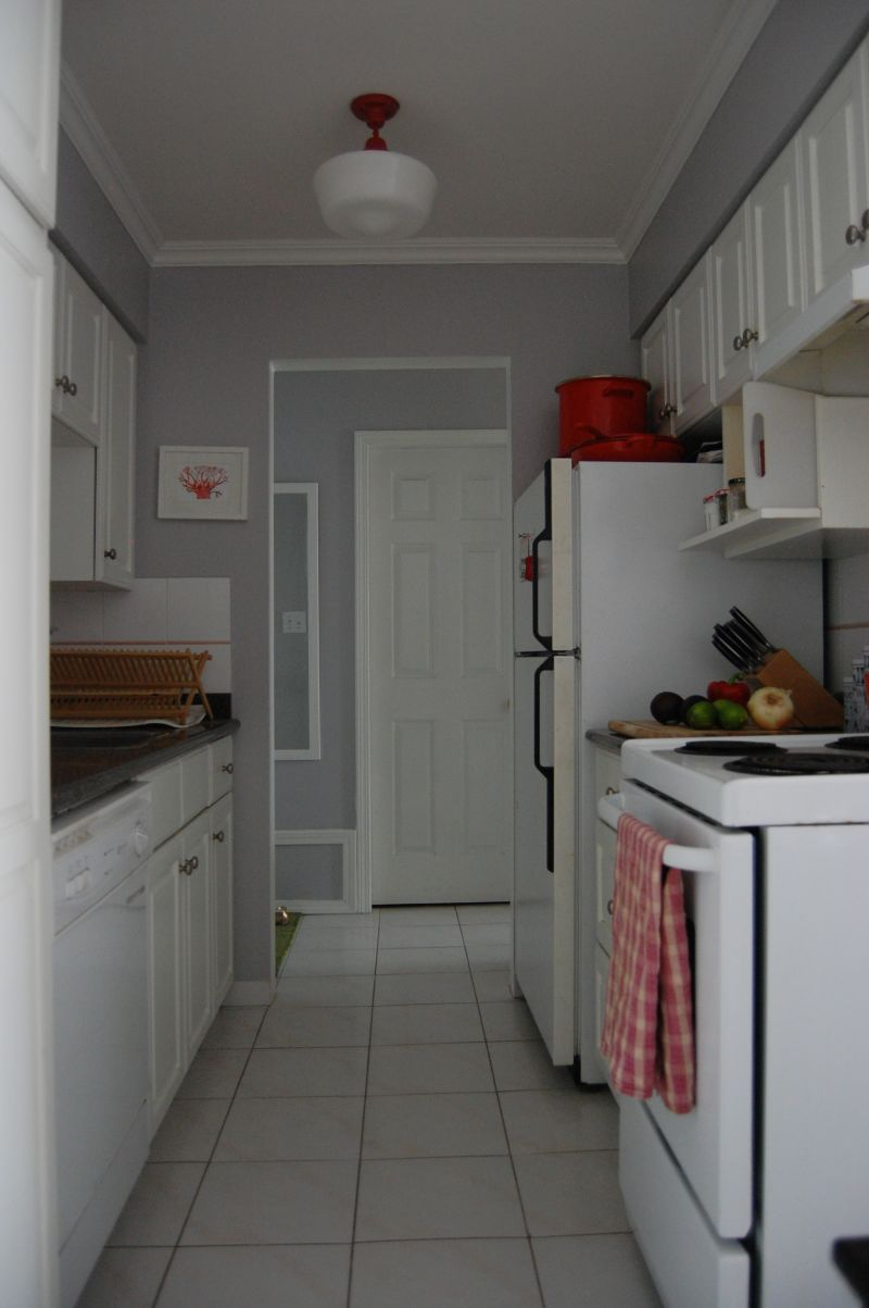 Adrienne's Shades of Red and Pink Kitchen — Small Cool Kitchens 2013