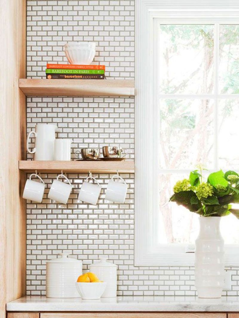 10 places to put a floating shelf in the kitchen kitchn