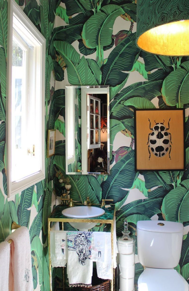 Style Inspiration: Wallpaper in the Bathroom | Apartment Therapy