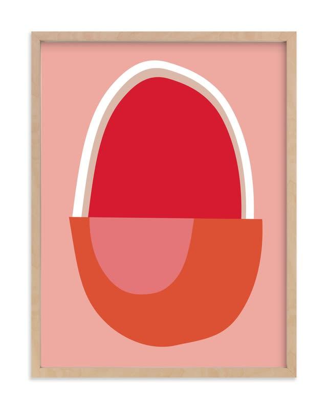 Big Egg Framed Wall Art Print