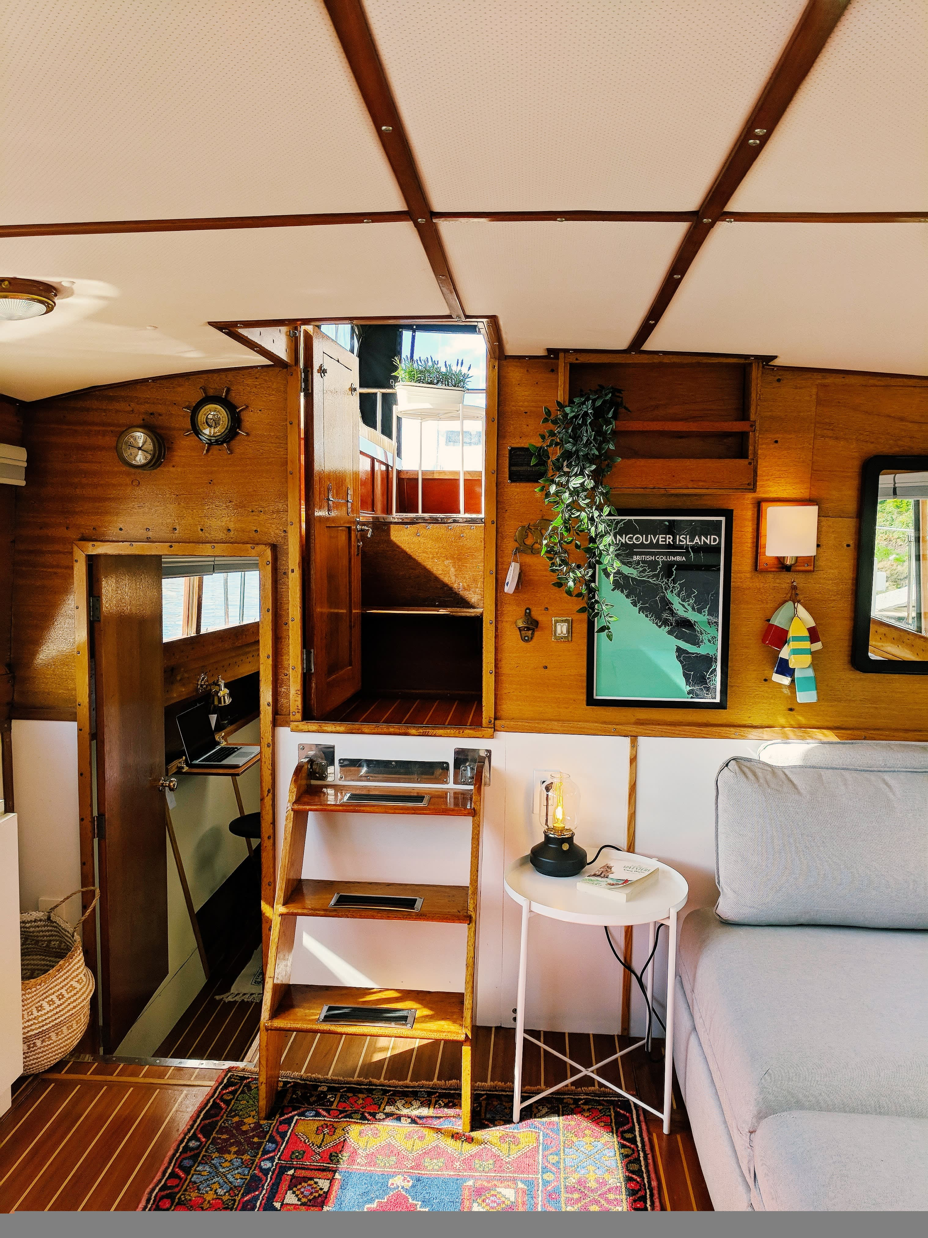 Small Living Room Apartment Therapy: Tiny House Living Ideas In A Renovated Small Houseboat