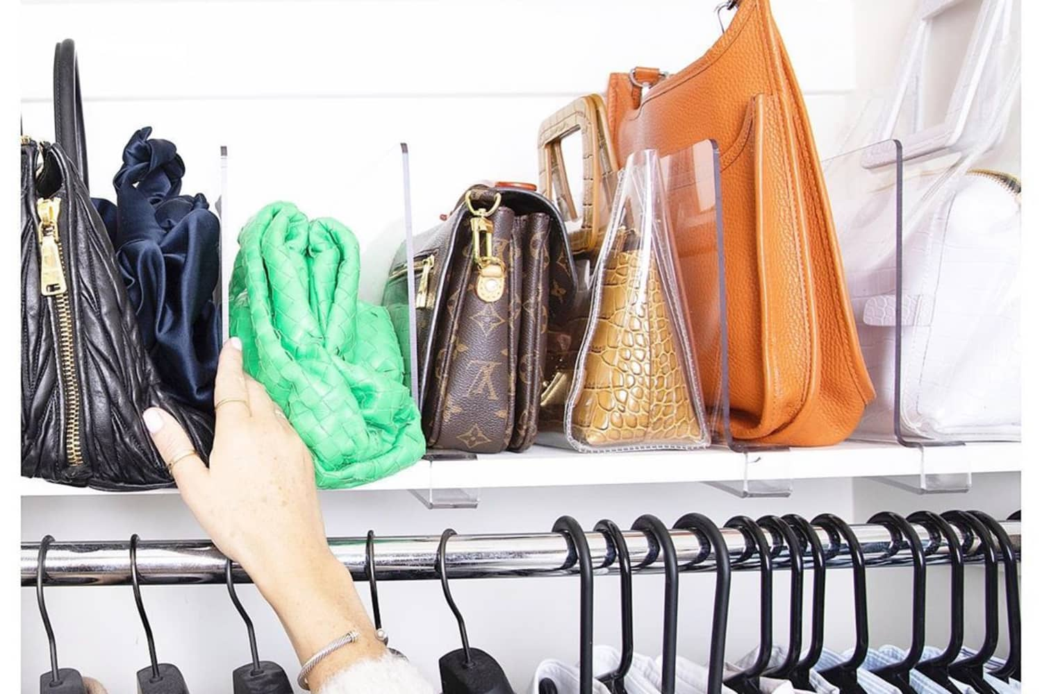17 Purse Storage Ideas - How to Store Purses & Handbags | Apartment Therapy