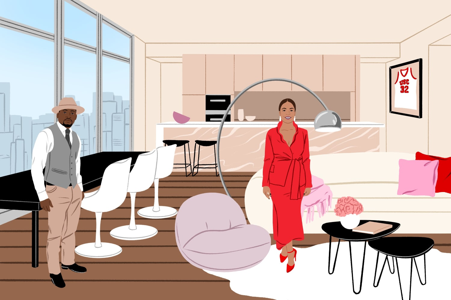 How RomCom Couples Would Decorate if They Lived in Studio Apartments