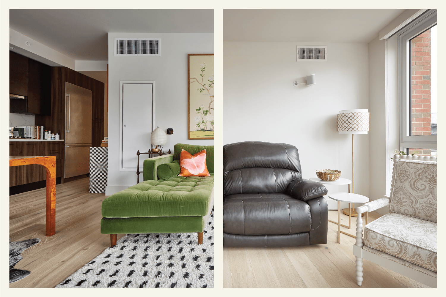 See How Two Renters in the Same Building Made Near-Identical Spaces Their Own