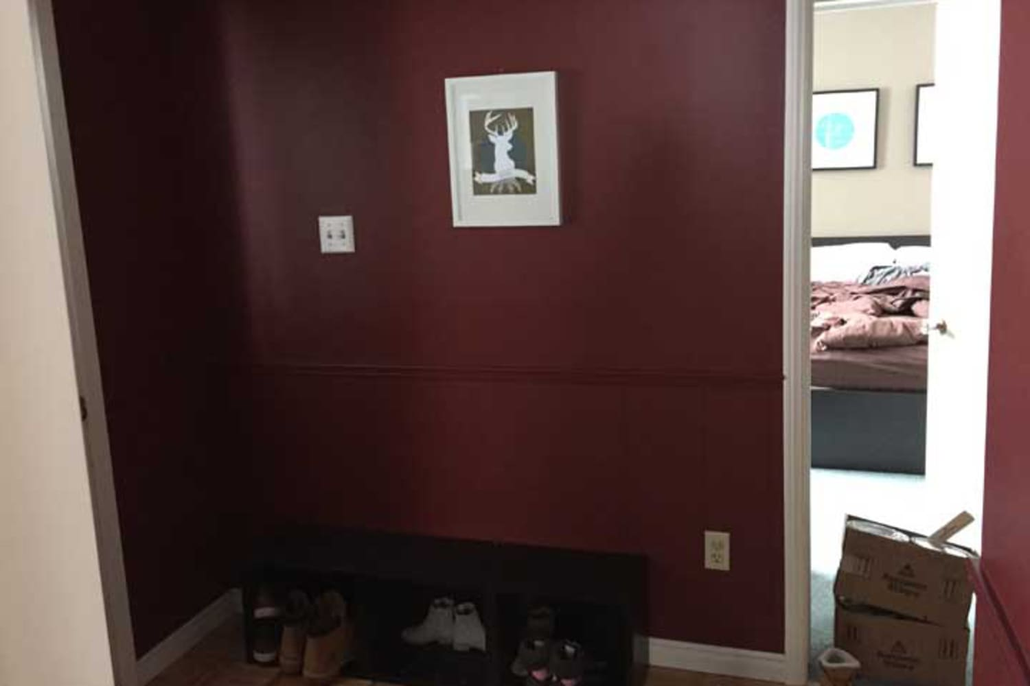 """Before and After: An Entryway Goes from """"Dark and Gloomy"""" to Joyful and Welcoming"""