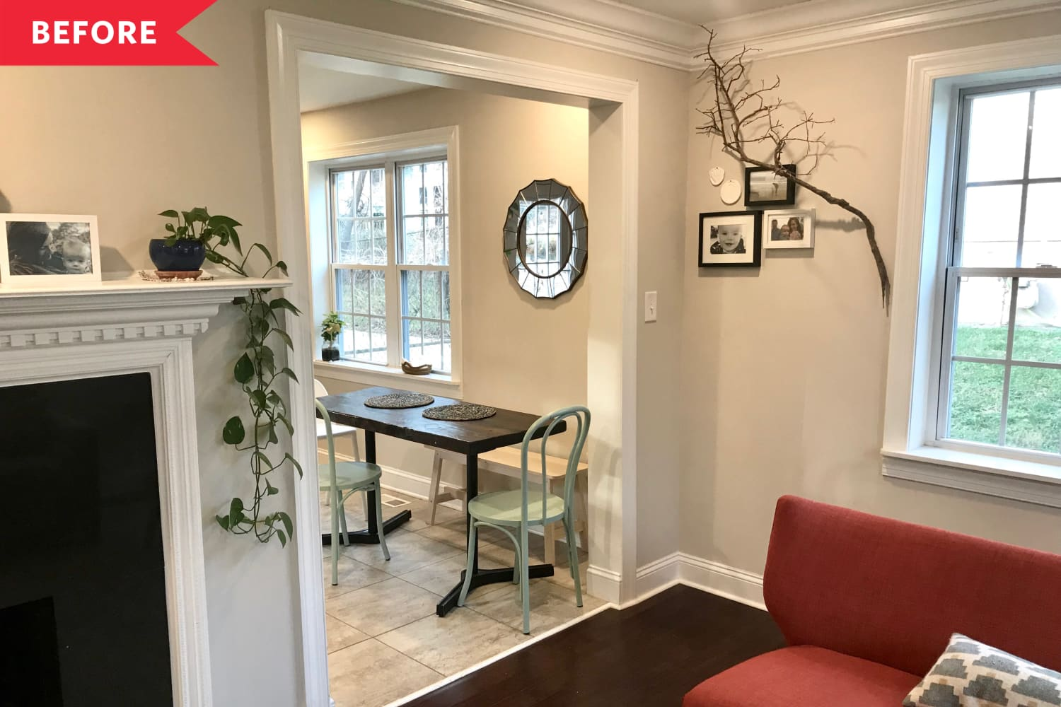 Before and After: An $1,800 Redo Smartly Maximizes Space in This Tiny Dining Area