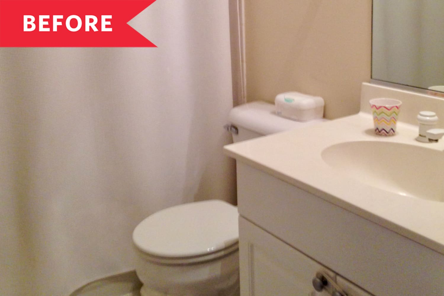 Before & After: This Dated '90s Bathroom Got A Total Upgrade With No Reno