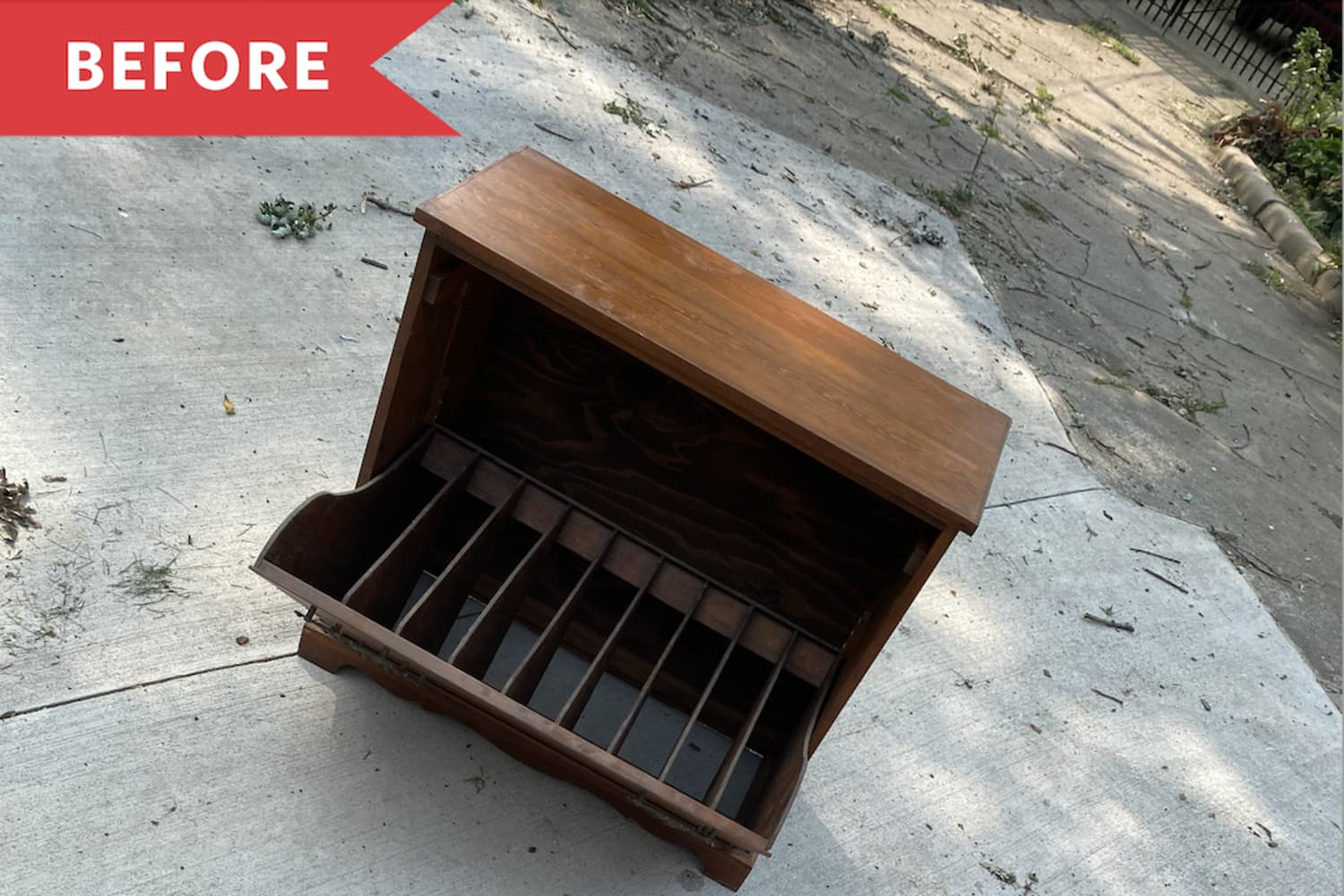 Before and After: A $40 Secondhand Cabinet Gets a Modern, Colorful Second Life