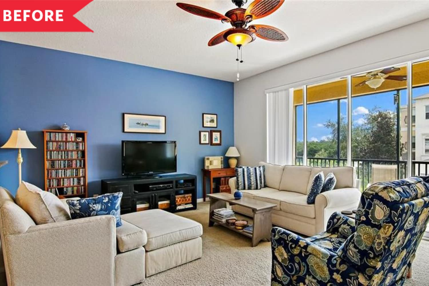 Before and After: A $150 Project Gives a Plain Living Room a Luxe Transformation