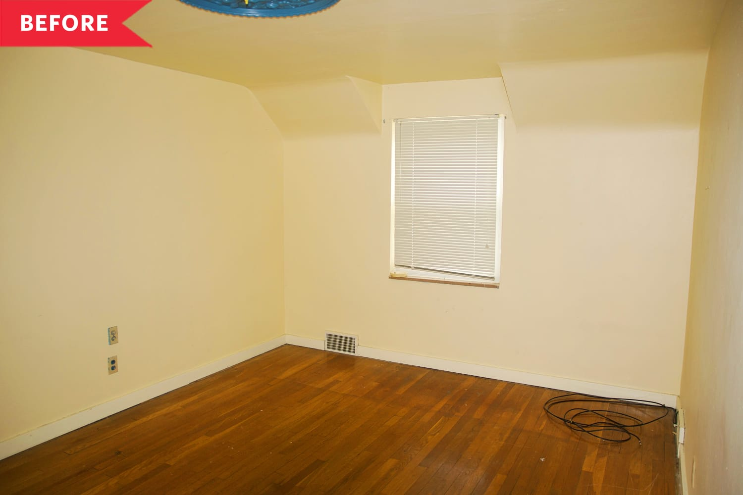 Before and After: $50 Painted Murals Add Some Sunshine to this Once Dingy White Nursery