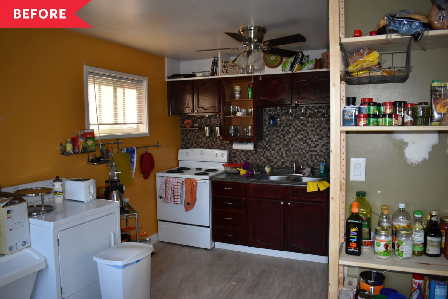 Before and After: A Smart Layout Change Makes This Kitchen's Cook Space Twice as Big