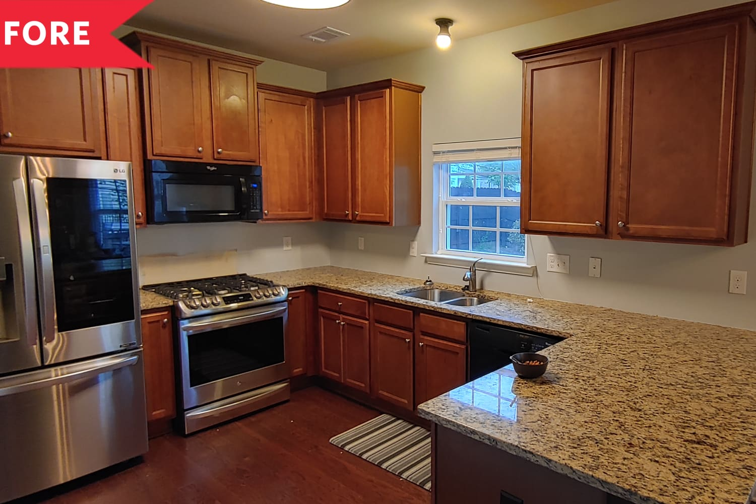 Before and After: A Bland Brown Kitchen Gets a Bright White Redo — With a Twist