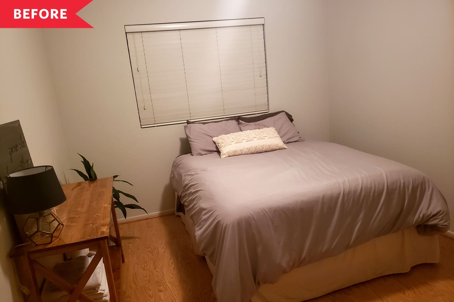 Before and After: A Charming Vintage-Style Redo for this Bare Bedroom — for Just $774