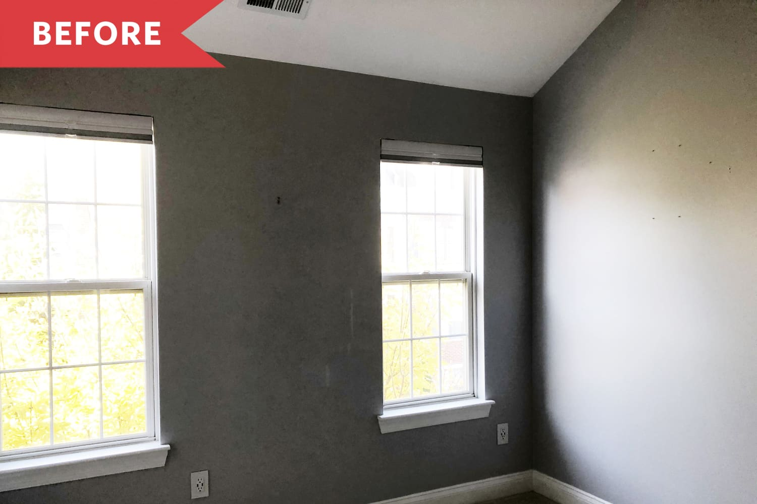 Before and After: A Dark, Gloomy Bedroom Becomes an Artist's Airy Home Office