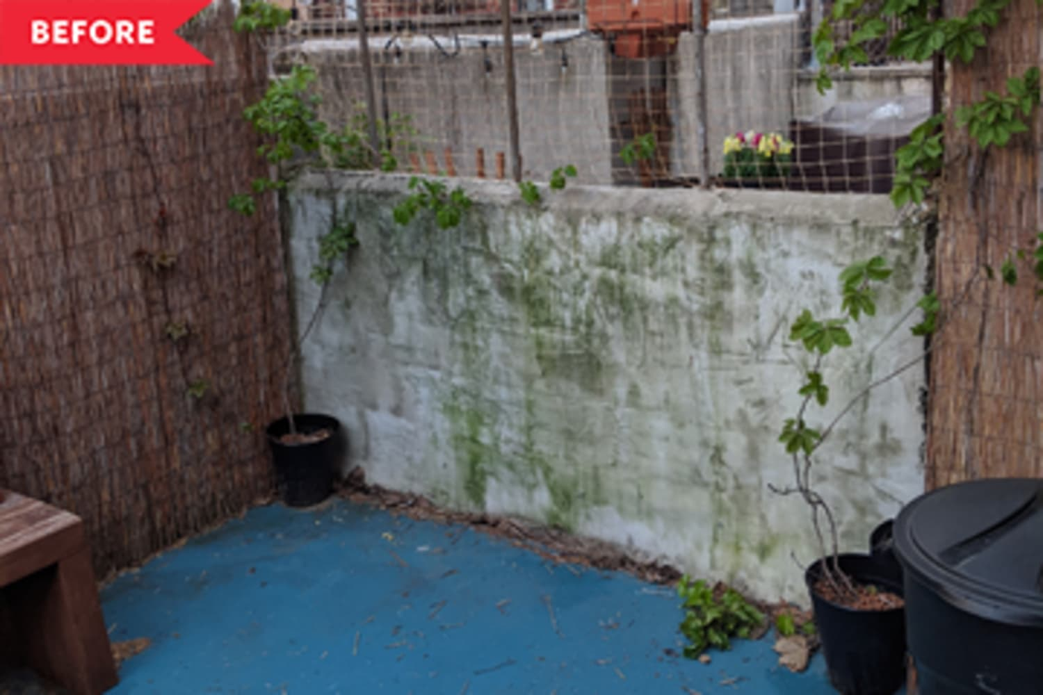 """Before and After: A $600 Redo Turns a """"Pee-Filled Fire Hazard"""" Patio into Relaxation Central"""