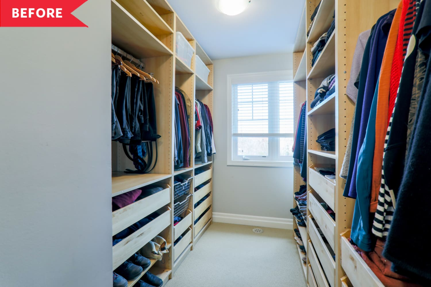 Before and After: A Dark Walk-In Closet Becomes a Dreamy Home Office for $3,000