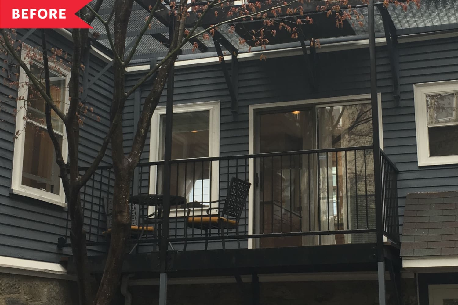 Before and After: A Small, Boring Balcony Becomes a Charming, Café-Inspired Oasis for $600