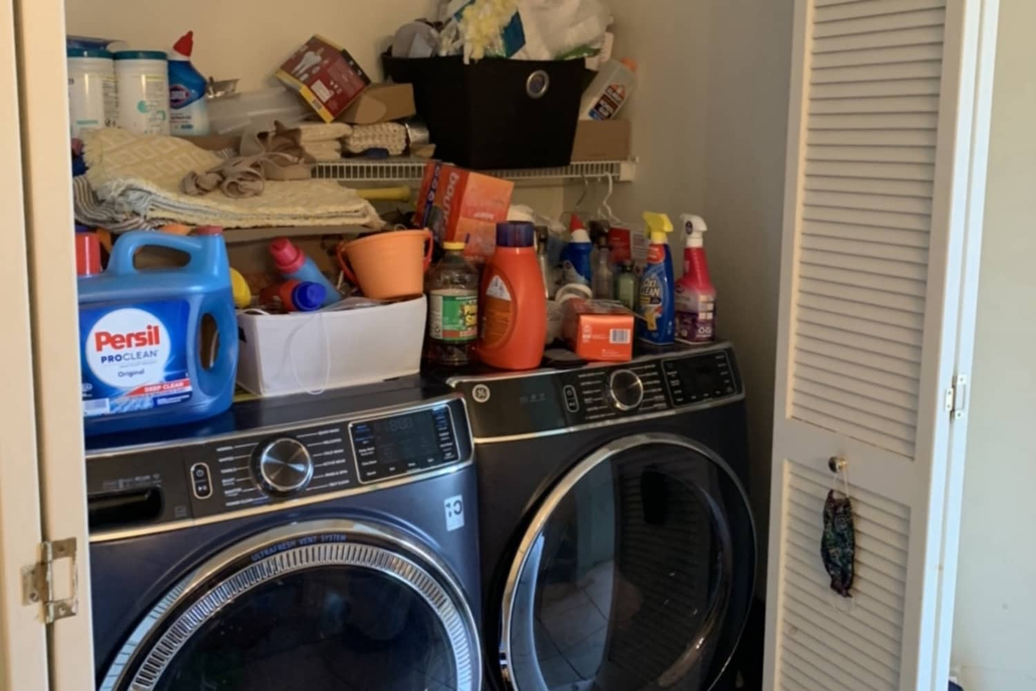 Before and After: A Few Small Changes Kick this Cluttered Laundry Zone into High Gear