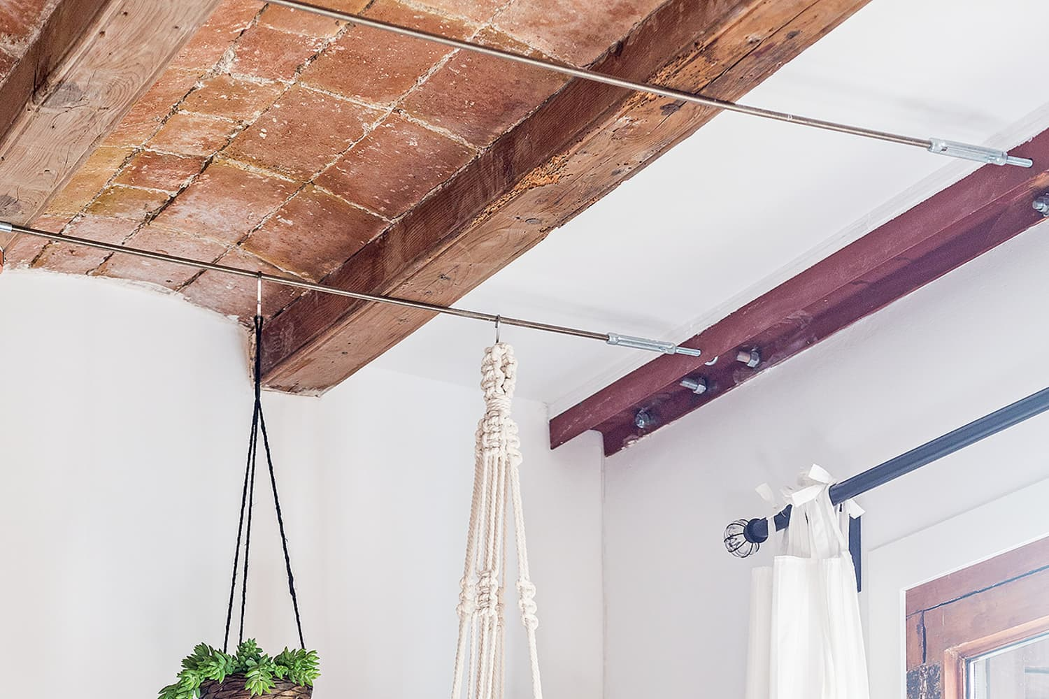 How To Hang Plants From Your Ceiling In Less Than 20 Minutes Apartment Therapy