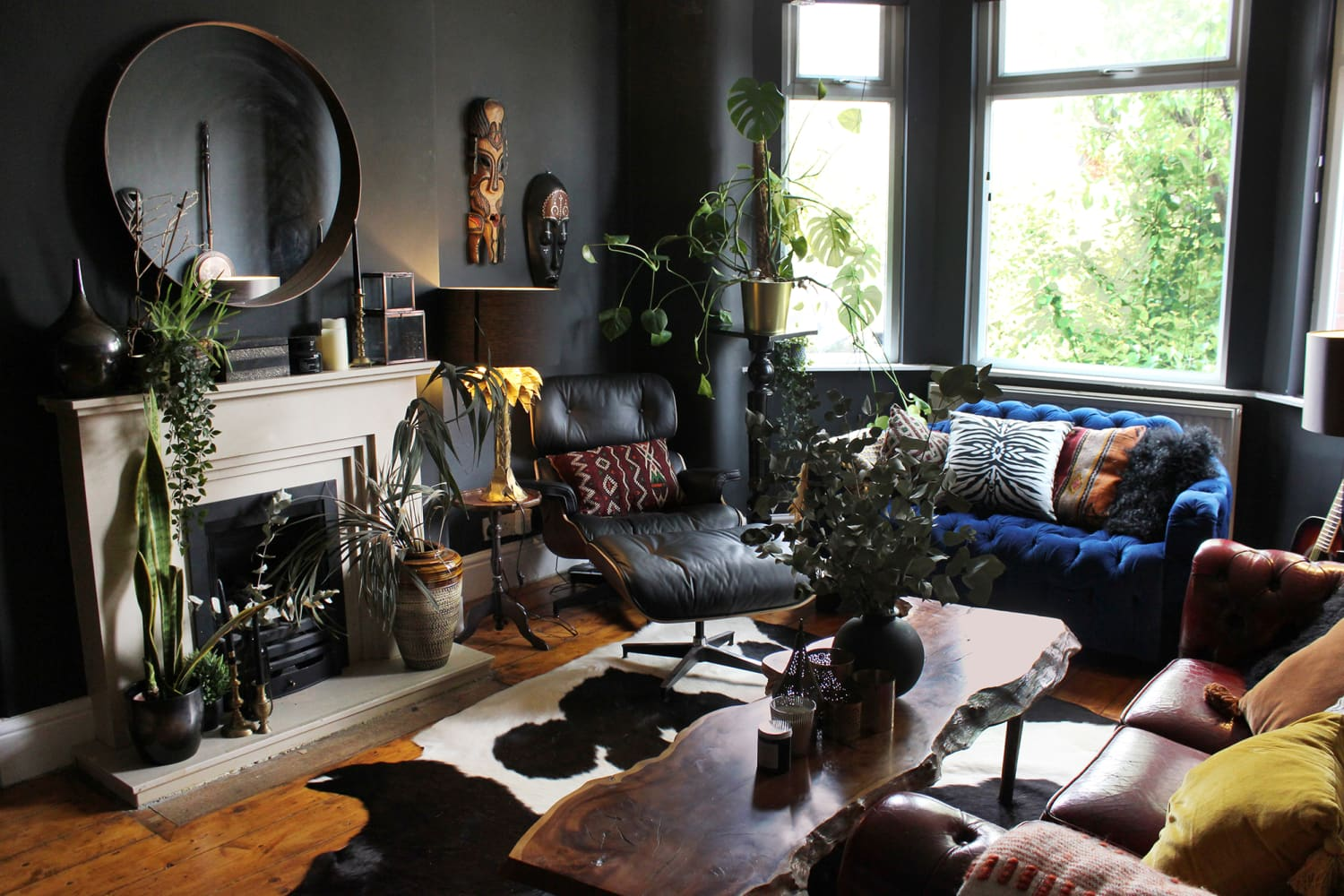 This Former 'Teenage Goth' Made the Dreamiest Dark and Moody House on a Budget