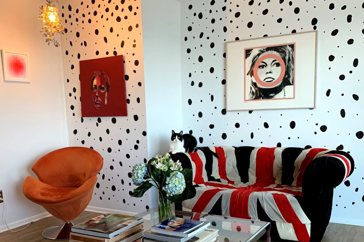 This Condo Has Hand-Painted Patterned Walls and Serious Rock 'n' Roll Vibes